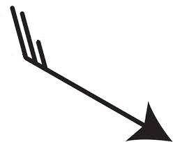 Flèche présentant l'orientation et la force du vent